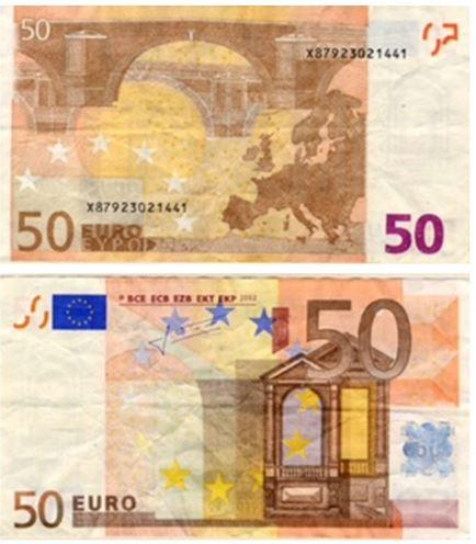 billetes de 50 euros falsos en circulación